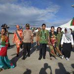 Kapolda Kaltim Kunjungi Bontang, Neni Moernaeni Sambut Dengan Tarian Jepen